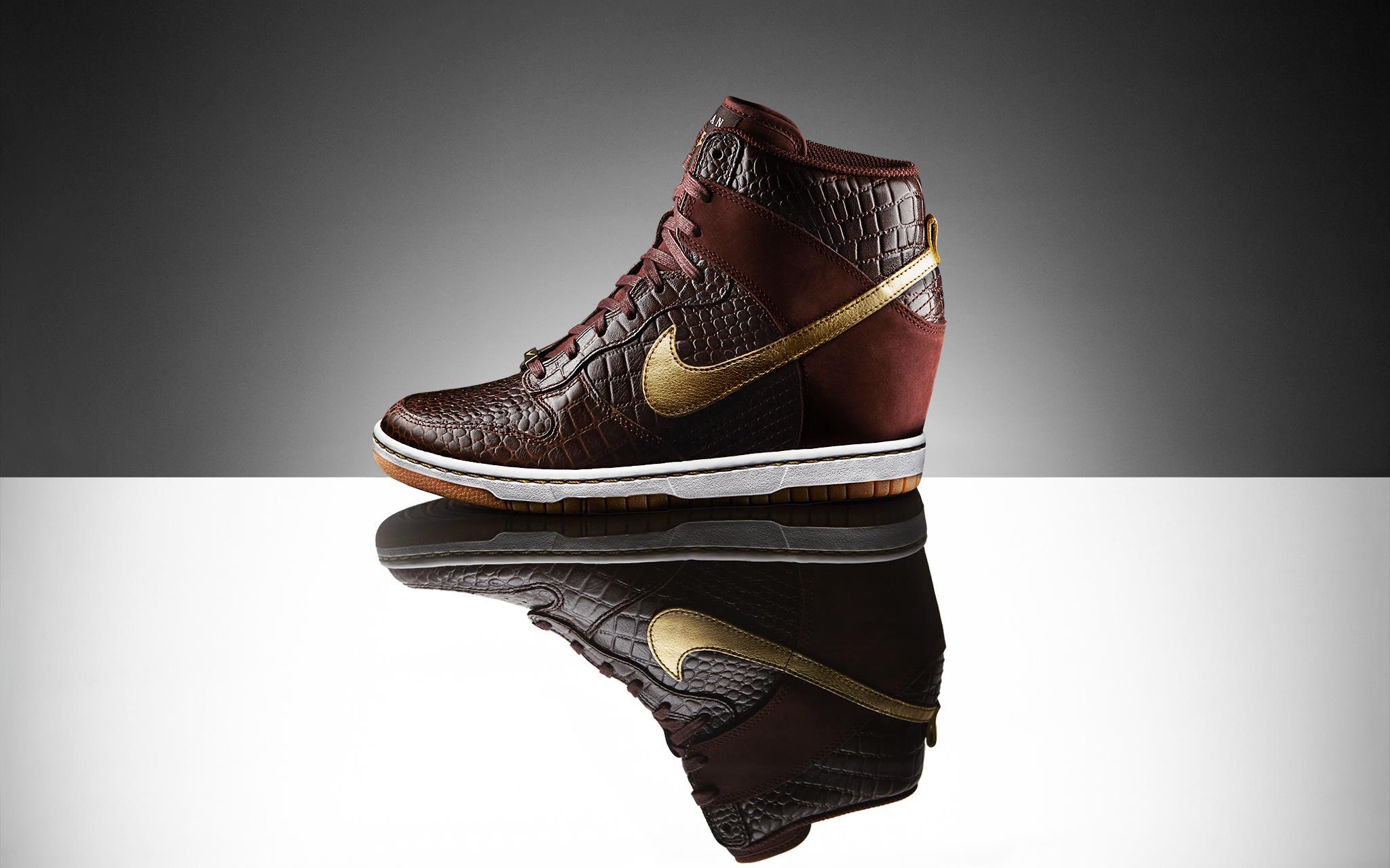 nike schoenen zwart dames sneakers met sleehak nike